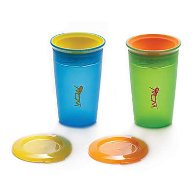 Juicy! Wow Cup 2-Pack 9 oz. Spill-Proof Kid's Cup in Blue/Green