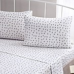 Brielle Fashion Cotton Jersey Anchor Full Sheet Set in Navy