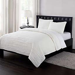 London Fog® Garment Washed Crinkle Quilt Set