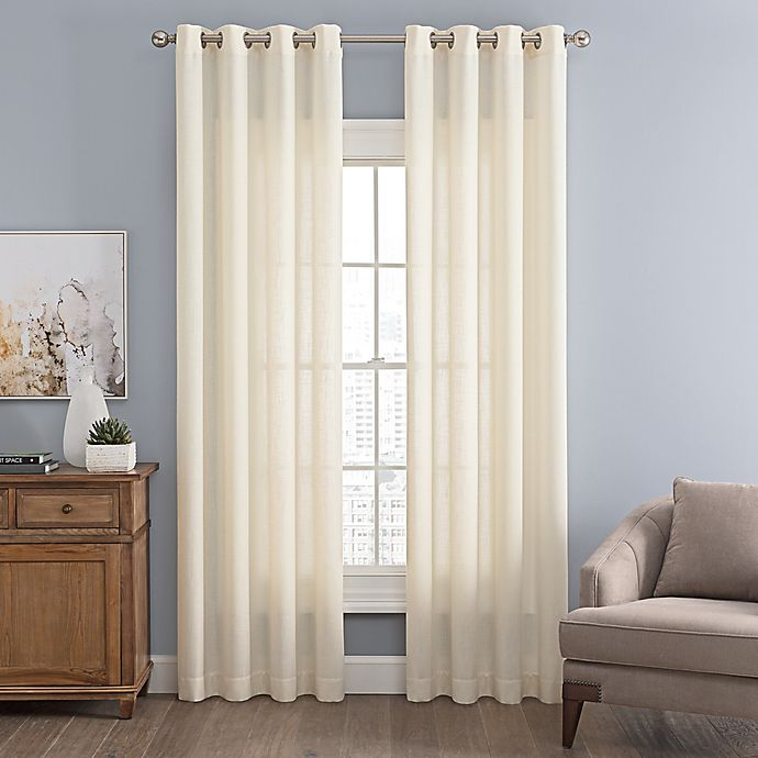 Alternate image 1 for Messina Solid Grommet Window Curtain Panel