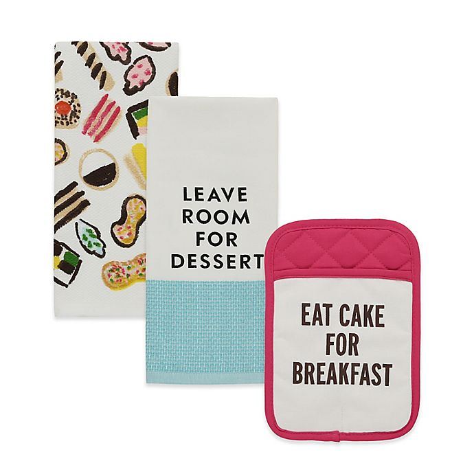 Alternate image 1 for kate spade new york Food for Thought Kitchen Linens