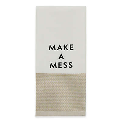 "kate spade new york ""Make a Mess"" Kitchen Towel in Flax"