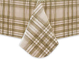 Reeve Plaid Stain Resistant Vinyl Tablecloth in Grey