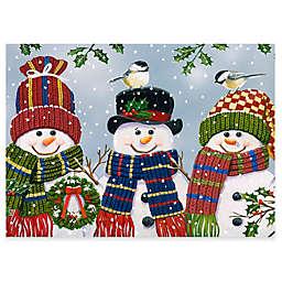 Premium Comfort by Weather Guard™ 22-Inch x 31-Inch Snowman Trio Comfort Mat