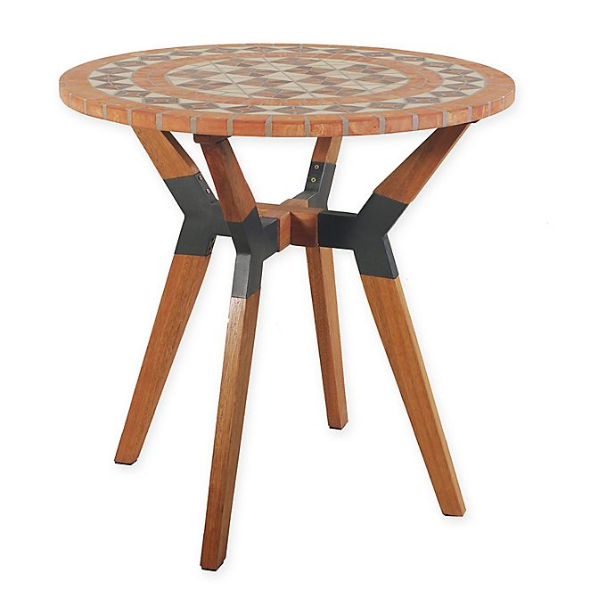 Outdoor Interiors® Terra Cotta Mosaic, Eucalyptus and ...