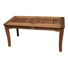 Outdoor Interiors® Eucalyptus Outdoor Coffee Table in Brown Umber