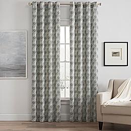Messina Print Grommet Window Curtain Panel