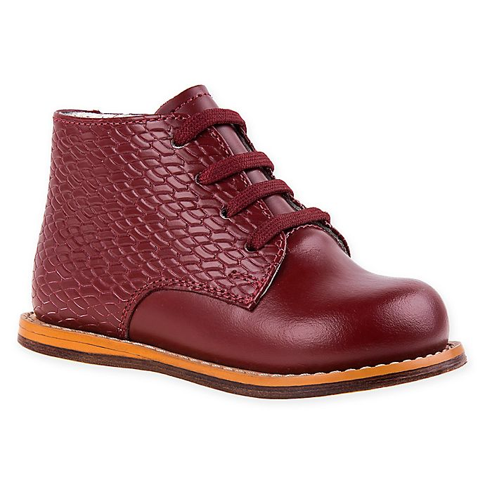 Alternate image 1 for Josmo Shoes Size 3.5 Woven Print Walking Shoes in Burgundy