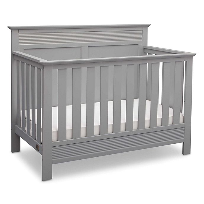Alternate image 1 for Serta Fall River 4-in-1 Convertible Crib in Grey by Delta Children