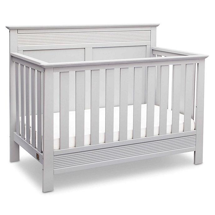Alternate image 1 for Serta® Fall River 4-in-1 Convertible Crib in White