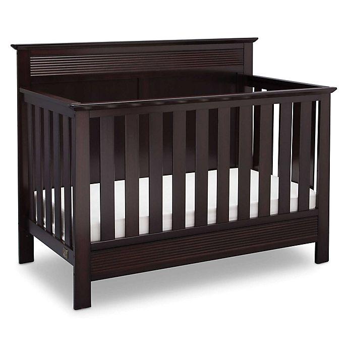 Alternate image 1 for Serta Fall River 4-in-1 Convertible Crib in Dark Chocolate by Delta Children
