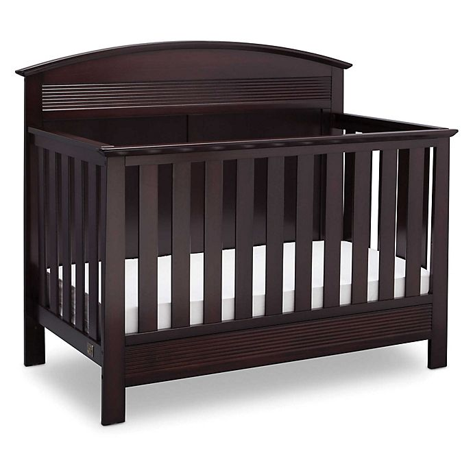 Alternate image 1 for Serta® Ashland 4-in-1 Convertible Crib in Dark Chocolate