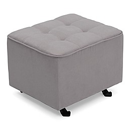 Delta Children Tufted Gliding Ottoman in Dove Grey