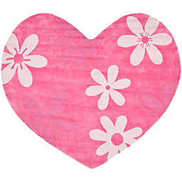 Safavieh Kids® Heart 7-Foot x 8-Foot Area Rug in Pink