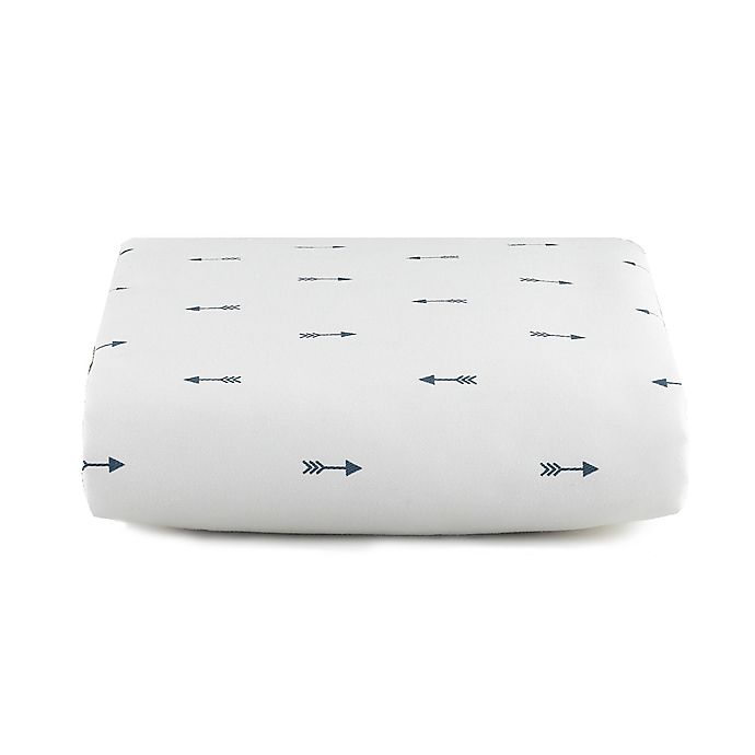 Alternate image 1 for Liz and Roo Woodland Mini Arrows Crib Sheet in Navy