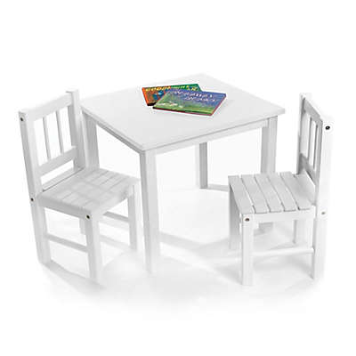 Lipper Kids Child's Table & Chairs Set in White
