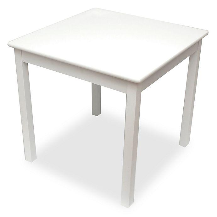 Alternate image 1 for Lipper Kids Square Table in White