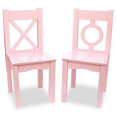 Lipper Kids Chairs in Pink (Set of 2)