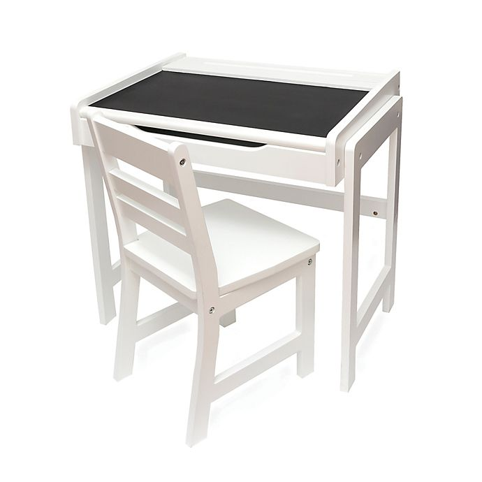 Alternate image 1 for Lipper International Chalkboard-Top Desk & Chair Set in White