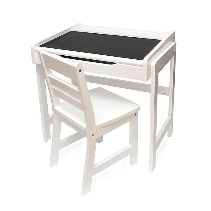 Alternate image 1 for Lipper International Chalkboard-Top Desk & Chair Set in White
