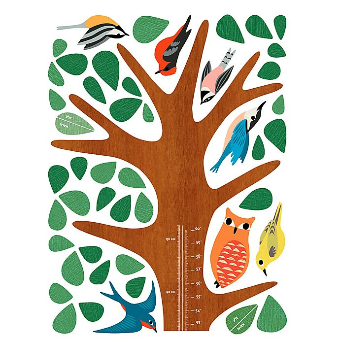 Alternate image 1 for Wallies Woodland Growth Chart Peel & Stick Wall Decals