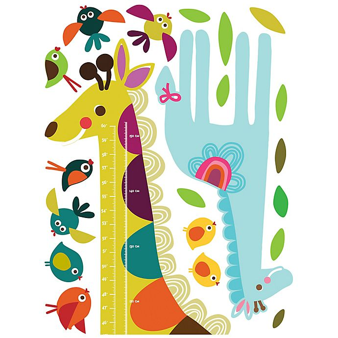 Alternate image 1 for Wallies Giraffe Growth Chart Peel & Stick Wall Decals