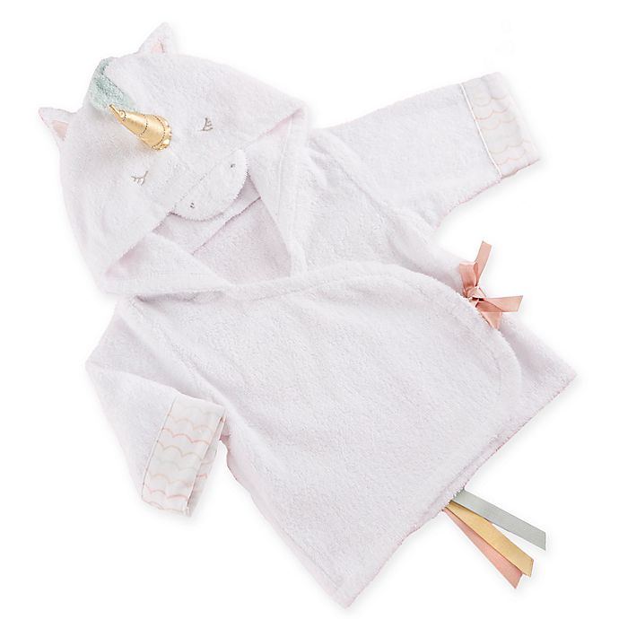 Alternate image 1 for Baby Aspen Size 0-9M Simply Enchanted Unicorn Hooded Spa Robe