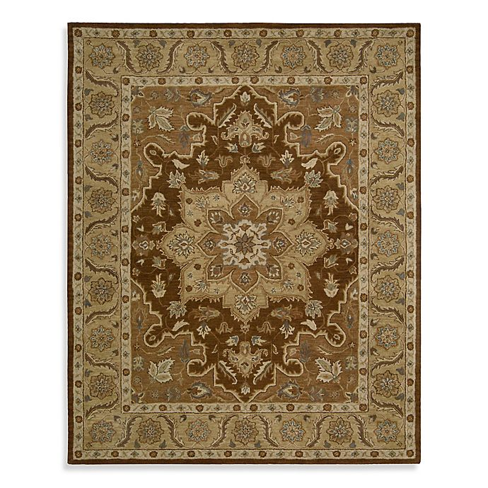 Alternate image 1 for Nourison India House Hand Tufted Kitchen Mat in Chocolate