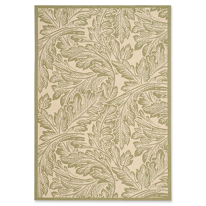 Alternate image 1 for Safavieh Autumn Leaves 5-Foot 3-Inch x 7-Foot 7-Inch Indoor/Outdoor Area Rug in Natural/Olive