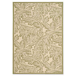 Safavieh Courtyard Autumn Leaves 5'3 x 7'7 Indoor/Outdoor Area Rug in Natural/Olive
