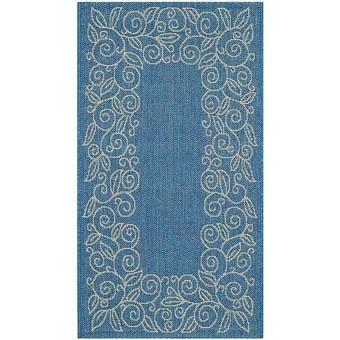 Alternate image 1 for Safavieh Vine Scroll 2-Foot x 3-Foot 7-Inch Indoor/Outdoor Accent Rug in Blue