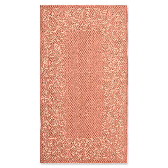 Alternate image 1 for Safavieh Vine Scroll 2-Foot 7-Inch x 5-Foot Indoor/Outdoor Area Rug in Terracotta