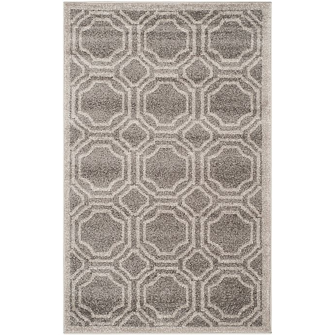 Alternate image 1 for Safavieh Amherst Abigail 2-Foot 6-Inch x 4-Foot Indoor/Outdoor Accent Rug in Grey/Light Grey