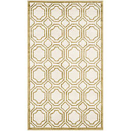 Safavieh Amherst Abigail 3-Foot x 5-Foot Indoor/Outdoor Area Rug in Ivory/Light Green