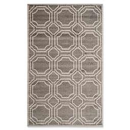 Safavieh Amherst Abigail 5-Foot x 8-Foot Indoor/Outdoor Area Rug in Grey/Light Grey