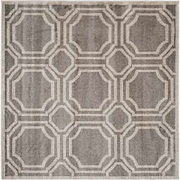 Safavieh Amherst Abigail 7-Foot Square Indoor/Outdoor Area Rug in Grey/Light Grey