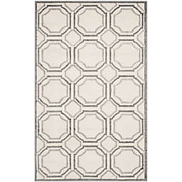 Safavieh Amherst Abigail 6-Foot x 9-Foot Indoor/Outdoor Area Rug in Ivory/Light Grey