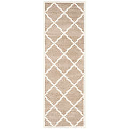 Safavieh Amherst Festival 2-Foot 3-Inch x 9-Foot Indoor/Outdoor Area Rug in Wheat/Beige