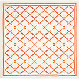 Safavieh Amherst Quine 7-Foot Square Indoor/Outdoor Area Rug in Beige/Orange