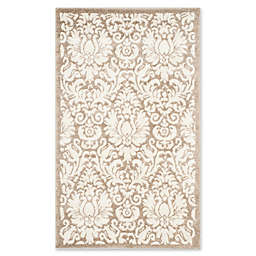 Safavieh Amherst Medallion 3-Foot x 5-Foot Indoor/Outdoor Area Rug in Wheat/Beige