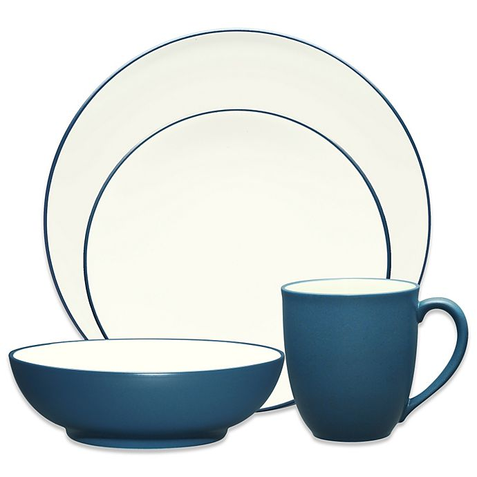 Alternate image 1 for Noritake® Colorwave Coupe 4-Piece Place Setting in Blue