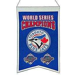 MLB Toronto Blue Jays World Series Championship Banner