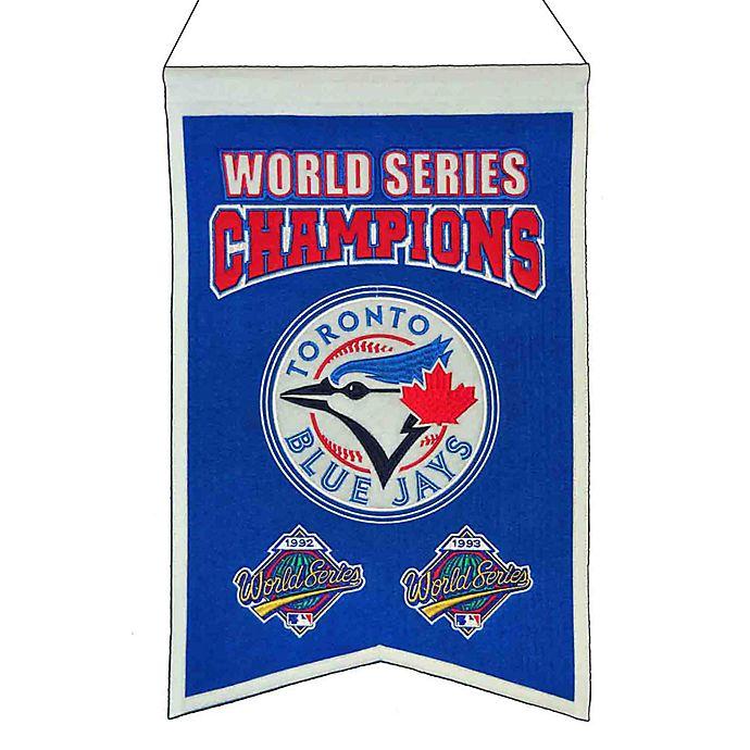 Alternate image 1 for MLB Toronto Blue Jays World Series Championship Banner