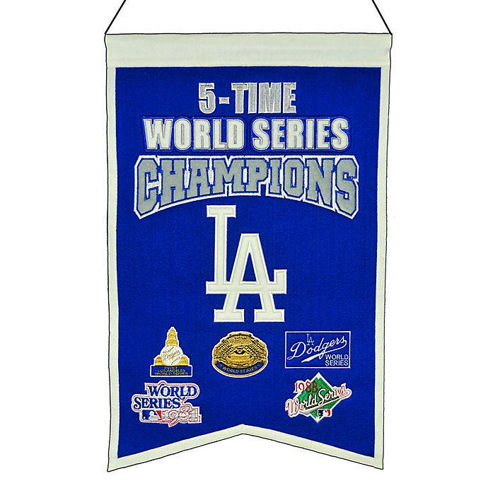 Alternate image 1 for MLB Los Angeles Dodgers 5X World Series Championship Banner