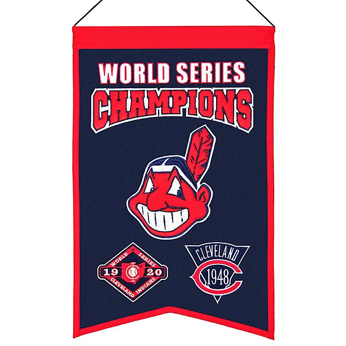 Alternate image 1 for MLB Cleveland Indians World Series Championship Banner