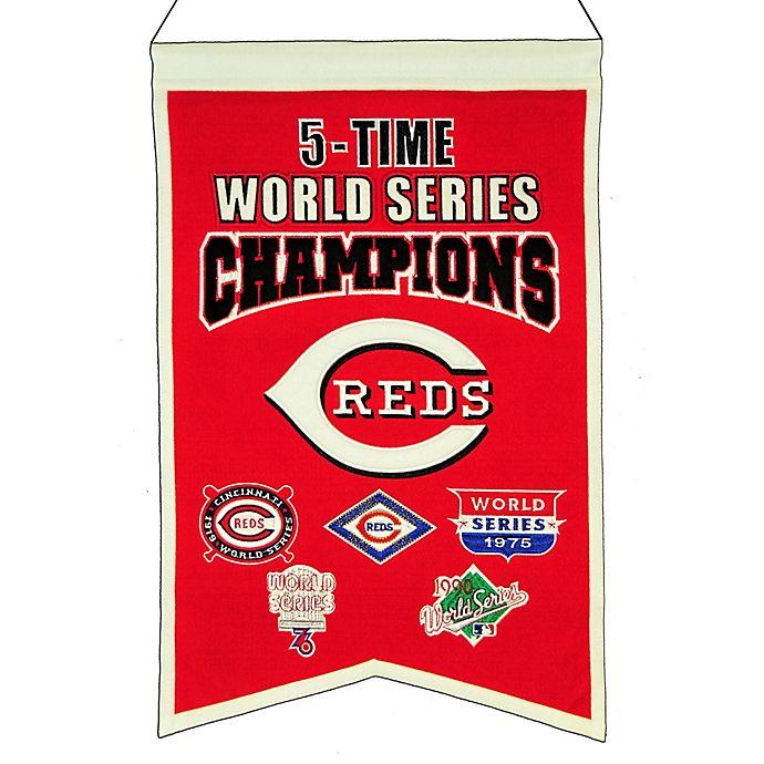 Alternate image 1 for MLB Cincinnati Reds 5X World Series Championship Banner