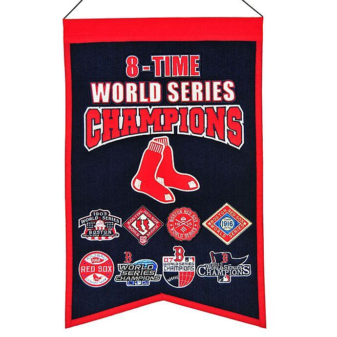 Alternate image 1 for MLB Boston Red Sox 8X World Series Championship Banner