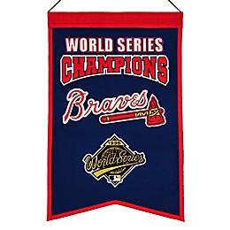 MLB Atlanta Braves World Series Championship Banner