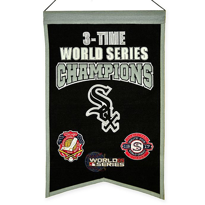 Alternate image 1 for MLB Chicago White Sox 3X World Series Championship Banner