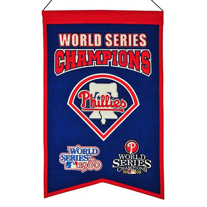 Alternate image 1 for MLB Philadelphia Phillies World Series Championship Banner